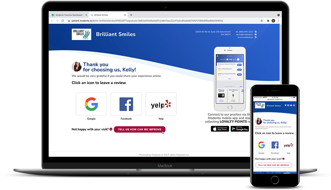 online reviews on multiple devices
